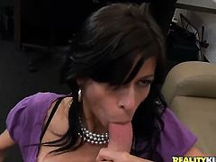 Mature Alexis Fawx gets satisfaction with Levi Cashs love stick in her horny. hot mouth