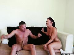 Mischa Brooks with tiny tities and bald snatch kills time fucking with hot bang buddy Mick Blue