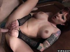Brunette Monroe Valentino is dangerously horny in this hardcore scene featuring her getting pumped