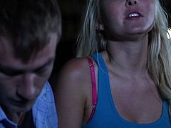 Take a look at this hardcore scene where the horny blonde babe Aaliyah Love is fucked at night as you check out her body.