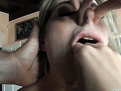 Kara Price is out of control with pulsating love torpedo in her wet spot