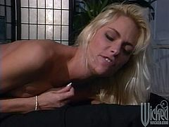 What a sizzling and delightful siren Debi Diamond is! She wants a huge cock and she is starting her oral efforts to get an erection.