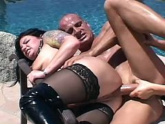 Wild babes are having this massive dick to bang them both and fill them with creamy jizz