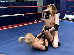 Blonde Gitta Blond makes her sex dreams a come to life with lesbian Bianka Lovely