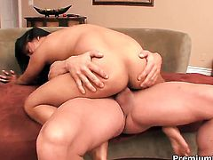 Lana Violet sticks mans love torpedo up her wet hole in one-on-one steamy sex action