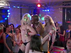 Sluts are having a great time by fucking hard during top sex party