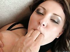 Franco Roccaforte shows nice sex tricks to Kate D with the help of his throbbing love stick