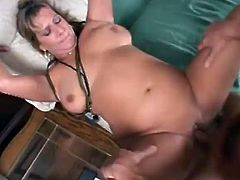 Salacious mature blonde Roxy Blaze shows her meaty pussy to some guy and lets him eat it. Then they bang in missionary position and Roxy moans loudly with pleasure.