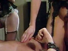 Jane Bond and her friend are fighting over this stud's stiff cock. Slutty blondie takes the lead. She sits on this stud's face and lets him get a taste of her sweet pussy. Then she rides his swollen cock in cowgirl position.