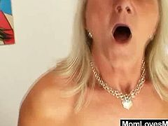 Watch these two horny grandma in this hot video, after long chatting one of them bring a big black dido strap-on.Both of them gets naked and shows their hairy cunts, then you will see them using that big strap-on for hot sex.