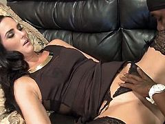 Checkout this sexy amateur milf and her white pussy lover, black stud who fucks her hard and deep.She grabs his big black cock and fucks her hard till he cums on her nicely.