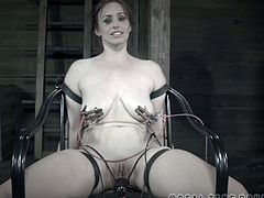 It's time for horny and busty Bella Rossi to experience her first BDSM training. She screams for help, but her master won't let her got so easily before it's all over.