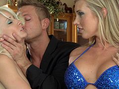 This fucker here gets to nail these two super hot blonde cock-suckers that show him a good time. Check it out right here.