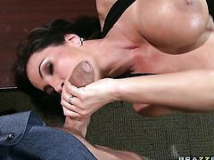 Mick Blue is horny as hell and cant wait any longer to slam alluring Lisa Anns mouth