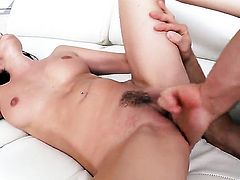 Horny wench Nikki Daniels fulfills her sexual needs and desires with dudes worm in her mouth