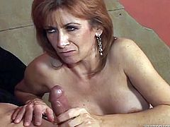 Take a look at this great compilation video where these horny mature ladies suck on big black cocks until their faces are covered by cum.