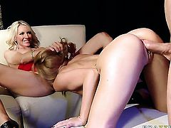 With small tities makes Jordan Ashs man meat harder before she takes it in her mouth