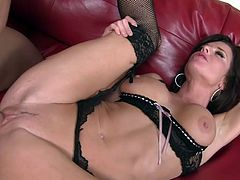 Sexy milf in astounding lingerie goes wild in sexy and pure hardcore action