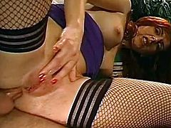 After having her shaved twat drilled well, Asian slut gets covered in jizz