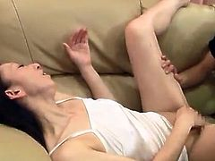 Nice aged female licks penis After She has eaten