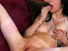 Aiden Ashley shows every inch of her body before her plays with herself on cam