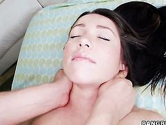 Lola Foxx is on the way to orgasm with guys rock solid pole in her pussy hole
