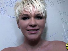 Claudia Downs is a Hot White Punk who gets a Big Black Footlong Gloryhole!