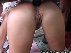 These sniffing dudes catch her rubbing and fingering her wet clam and comes to gives her real satisfaction. They fucked her clam and asshole so hard.