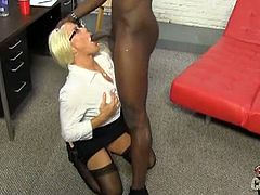 Alexis Diamond is a gorgeous blond mom with big ass and huge tits. She gets her wet fuck hole filled with huge black cock.See how this black dude fucks her tight pussy till he cums on her lovely face.