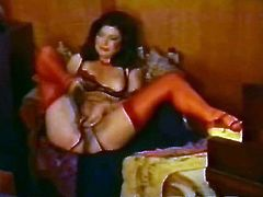 Curly haired dark head plump slutty chick want to fuck a lot. Her snatching pussy needs at least to be fingered at first. That is exactly what she does right now. Watch this hungry twat in The Classic Porn sex clip!