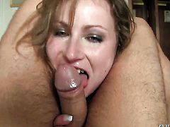 David Perry wants to fuck Horny Daryls back porch forever before she takes it deep down her throat