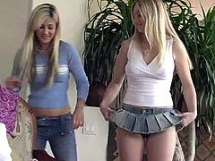 Two lovely blonde chicks including Alison Angel change clothes