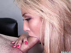 Capri Cavalli finds it exciting to polish guys dick with her hands