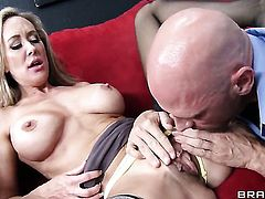 Johnny Sins cant wait any longer to stick his man meat in beautiful Brandi Loves honeypot