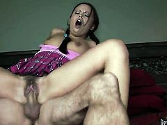 Kaci Starr gets her many times used mouth banged again by horny man