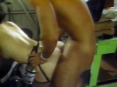 Dark haired full bosomed big assed nymph passionately swallows tremendous cream stick and after that hard job her smelly black eye gets seriously doggy style hammered. Enjoy it in The Classic Porn sex clip!