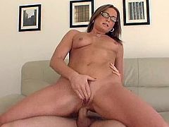 Flower Tucci was fucked by Mark in her trimmed pussy