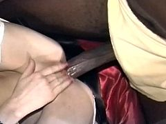 Nasty blonde sluts sharing monster black cock in this sizzling interracial threesome fun.