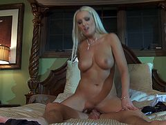 Sexy cougar Diana knows what she wants when she takes this younger guy home and gets fucked him him in several wild positions.