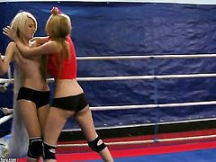 Blonde Antonya with massive jugs and Blanche have a great time stimusexy each others snatch