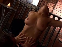 Rita Faltoyano plays a role of the mistress. She sucks slave's dick and gets fucked in her vagina. Later on she also gets banged in the ass as she likes.
