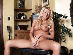 Alicia Secrets stripping and masturbating