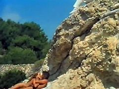 Saggy tits blond head rapacious whoe gets mish style fucked on cliff