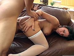 Check out this hardcore scene where the sexy brunette Kendra Secrets is fucked by a guy a horny patient as she wear a nurse's outfit.