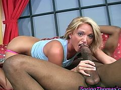 Fabulous Spring Thomas Has Interracial Sex With A Black Dude