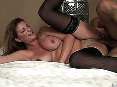 Robbye Bentley finds herself blowing mans rock hard man meat