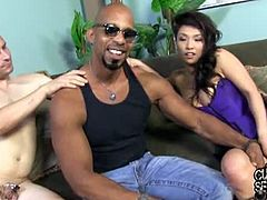 Shane Diesel introduces Mia Rider to the real art of cuckold domination. She puts a chastity device on the white guy and takes Shane's cock in her hungry holes.