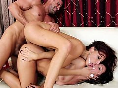 Lusty babes having fun in threesome