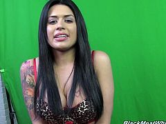 Hottie Eva Angelina gets naked and shows off her amazing body while she gets dressed and gets ready to shoot a hardcore scene.
