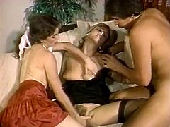 Hot like hell curvy blond head slut sucks tremendous hot penis of her old man and gets her fabulously haired saggy pussy licked by her sweetie meanwhile. Watch this awesome 3some suck in The Classic Porn sex clip!
